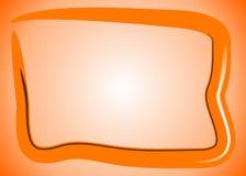 Abstraktes orange Fernsehen stock abbildung