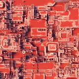 Abstraktes orange futuristisches techno Muster Illustration Digital 3d Stockbilder