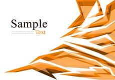 Abstraktes orange Polygon Lizenzfreie Stockfotos