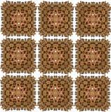 Abstraktes orientalisches nahtloses Muster vektor abbildung