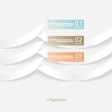 Abstraktes Origami-Art-Papier Infografics Stockbilder