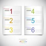 Abstraktes Origami infographics Lizenzfreie Stockbilder