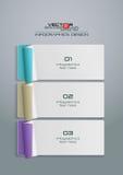 Abstraktes Papier 3D Infographics-Design Stockbilder