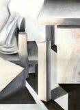 Abstraktes PastellÖlgemälde Lizenzfreies Stockbild