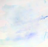Abstraktes Pastellhübsches des blauen Himmels des Hintergrundaquarellbeschaffenheitspapiers Lizenzfreies Stockfoto