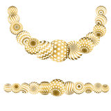 Abstraktes Perlenmuster in Goldweihnachtsfarbe Stockbild