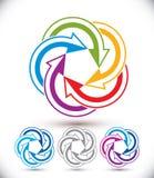 Abstraktes Pfeilvektorsymbol, Grafikdesign Lizenzfreie Stockbilder