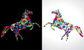 Abstraktes Pferd Lizenzfreies Stockfoto