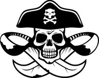 Abstraktes Piratensymbol im vektorformat Lizenzfreie Stockfotografie