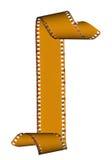Abstraktes Plättchenfilmfeld getrennt auf Weiß Stockbild