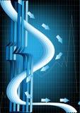 Abstraktes Plakat mit einer dreidimensionalen Auslegung Stockfoto