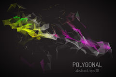 Abstraktes Polygonals Stockfotografie