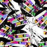 Abstraktes Pop-Arten-Hintergrundmuster, mit Kreisen, Anschläge und stock abbildung