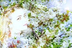 Abstraktes Porträt des Frühjahres Stockbild