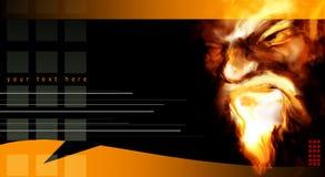 Abstraktes Portrait in den Flammen Stockbild