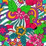 Abstraktes psychedelisches nahtloses Muster lizenzfreie abbildung