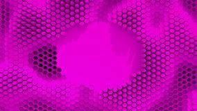 Abstraktes Purpur kristallisierter Hintergrund Bienenwabenbewegung wie ein Ozean Mit Platz für Text oder Logo Stockbilder