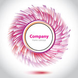 Abstraktes purpurrot-weißes Element für Firma lizenzfreie abbildung