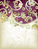 Abstraktes purpurrotes Blumen Lizenzfreie Stockfotografie
