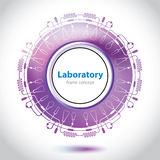 Abstraktes purpurrotes medizinisches Laborelement. Lizenzfreie Stockfotos