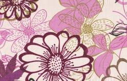 Abstraktes purpurrotes mit Blumenmuster. Lizenzfreie Stockfotos