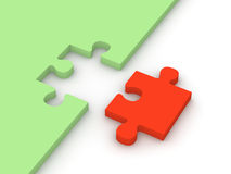 Abstraktes Puzzlespiel Stockfotos