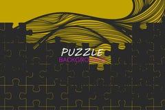Abstraktes Puzzlespielkonzept-Vektordesign Lizenzfreies Stockbild
