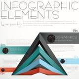Abstraktes Pyramide infographics Lizenzfreie Stockbilder