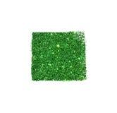 Abstraktes Quadrat des grünen Funkelnscheins auf weißem Hintergrund für Ihr Design Lizenzfreie Stockbilder
