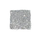 Abstraktes Quadrat des silbernen Funkelnscheins auf weißem Hintergrund für Ihr Design Lizenzfreie Stockbilder