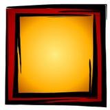 Abstraktes Quadrat-Kasten-Rot-Gold Lizenzfreies Stockbild