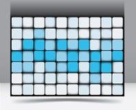 Abstraktes quadratisches Hintergrundmuster Lizenzfreie Stockfotos