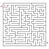 Abstraktes quadratisches Labyrinth Ein interessantes Spiel für Kinder und Jugendliche Einfache flache Vektorillustration lokalisi Vektor Abbildung