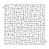Abstraktes quadratisches Labyrinth mit einem schwarzen Anschlag Ein interessantes Spiel für Kinder und Erwachsene Einfaches flach Vektor Abbildung