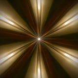 Abstraktes radialmuster des goldenen Lichtes Stockbild
