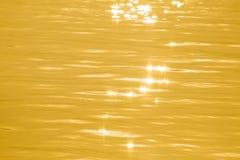 Abstraktes reflektierendes Oberflächensolargold Lizenzfreies Stockbild