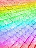 Abstraktes Regenbogengebäude, Haufen gestaltet Hintergrund, Lizenzfreies Stockfoto