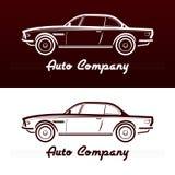 Abstraktes Retro- Autodesign lizenzfreie abbildung