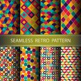 Abstraktes Retro- geometrisches nahtloses Muster. Stockbilder