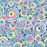 Abstraktes Retro- Muster mit Kreisen Stockfotografie