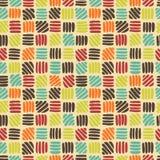 Abstraktes Retro- nahtloses Muster Stockbild