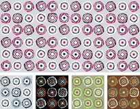 Abstraktes Retro- nahtloses Muster/Vektor Stockfoto