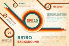 Abstraktes Retro- Plakat mit Text Stockbilder