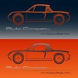 Abstraktes Retro- Sportwagendesign stock abbildung