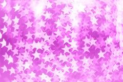 Abstraktes rosa bokeh backround von guten Rutsch ins Neue Jahr oder Weihnachtenlig Lizenzfreie Stockbilder