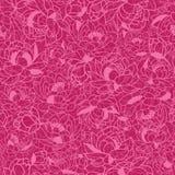 Abstraktes Rosa pflanzt nahtlosen Muster-Hintergrund stock abbildung
