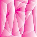 Abstraktes rosa Polygon für Hintergrund Stockfoto