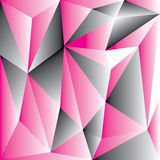 Abstraktes rosa Polygon für Hintergrund Stockbild