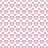 Abstraktes rosa und braunes nahtloses Muster Lizenzfreies Stockfoto