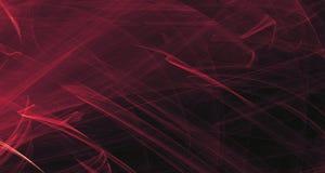 Abstraktes rosa und purpurrotes Licht glüht, Strahlen, Formen auf dunklem Hintergrund Stockfoto